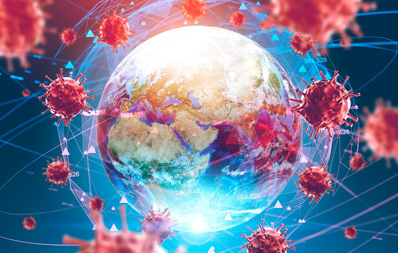 Coronavirus magnified image