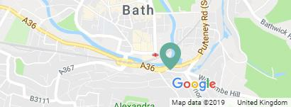 map of Bath